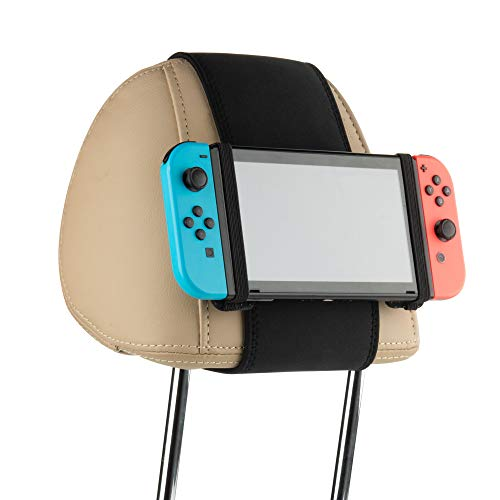 Cosmos Car Headrest Mount Holder Seat Mount Holder Compatible with Nintendo Switch and Other Mini Tablets