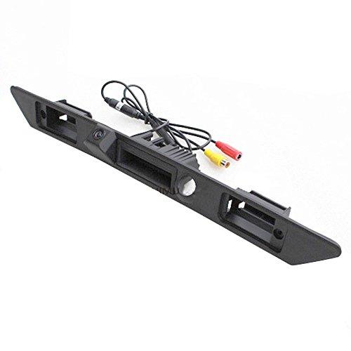 Navinio Wasserdicht umkehrbare Fahrzeug-spezifische Griffleiste Kamera integriert in Koffergriff Rückansicht Rückfahrkamera für Audi A3 A4 A6L A8L A8 Q7 A4 B6 C6 B7 8E 8H Q5 Q7 (Model LS8001=85mm)