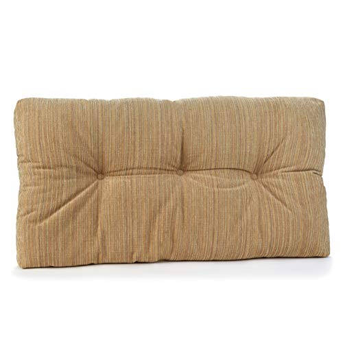 Klear Vu Chenille Fabric Tufted Gripper Non Slip Overstuffed Bench Pad Cushion, 27', Natural