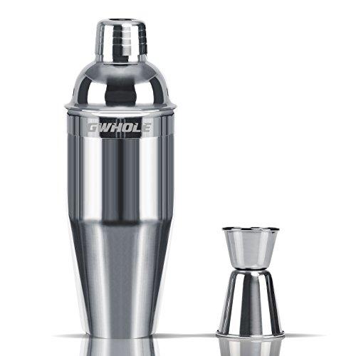 gwhole 3-teilig Edelstahl Cocktail Martini Shaker Set, 25Oz mit integriertem Barsieb und Barmaß 25 Oz/750 ml