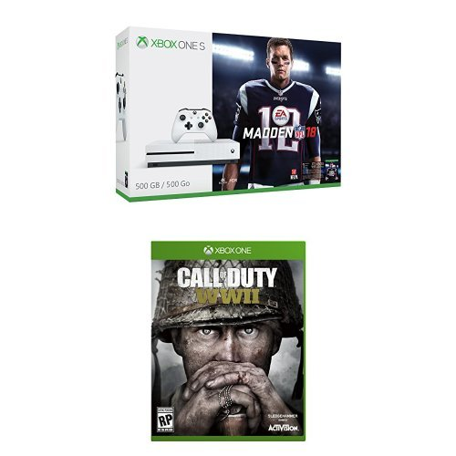 Xbox One S Madden Nfl 18 500GB Bundle + Call of Duty: WWII