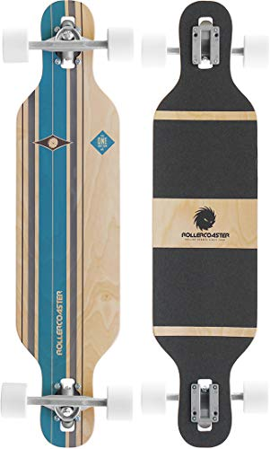 RollerCoaster Longboard - Stripes - Drop-Through