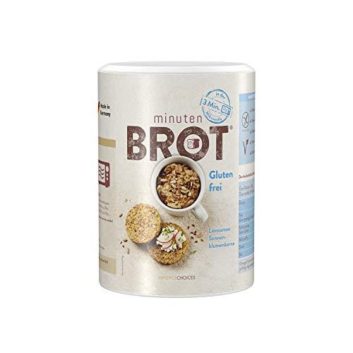 Minutenbrot Glutenfrei Brotbackmischung | 3·2·1 Brot ist fertig | 480g für 6 Brote á ca. 140g: Laktosefrei, Vegan, natürlich ohne Getreide und Konservierungsstoffe