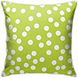 Car Lime Green White Polka Dot Decorative Pillowcases Cushion Cover for Couch Sofa Double-Sided Print Throw Pillow Covers Square 18x18 Inch