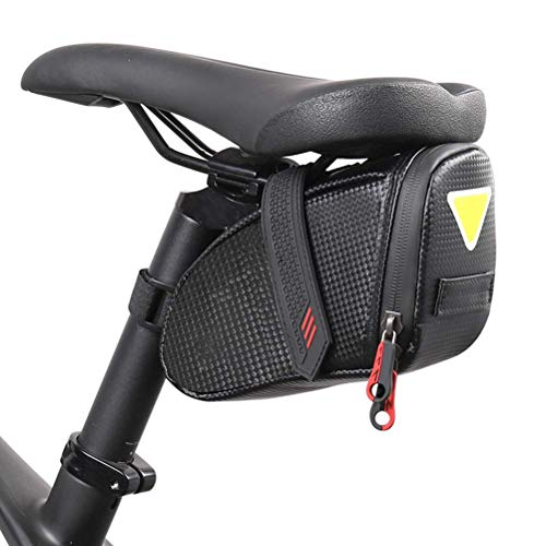 Bike Seat Bag Dual Zipper Bicycle Saddle Bag Under Seat Waterproof Saddle Pouch for Mountain Road Bicycles YicanGg