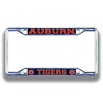 Auburn Tigers License Plate Frame Silver