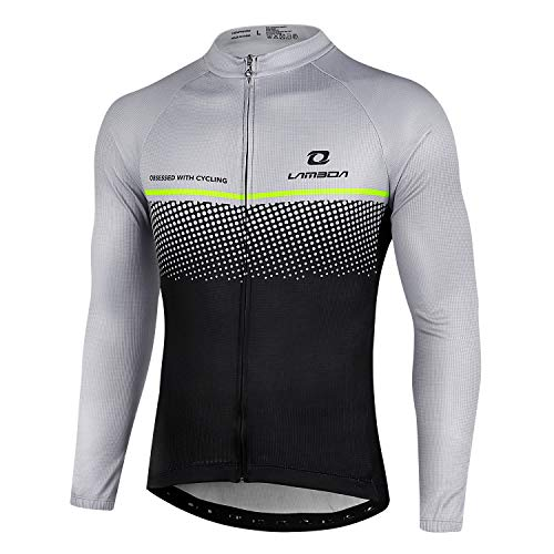 LAMEDA Maglia Ciclismo Manica Lunga Abbigliamento da MTB Traspirante Asciugatura Veloce da Uomo e Donna