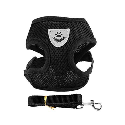 CuiGuoPing - Arnés de malla para mascotas, chaleco ajustable, poliéster, para perros pequeños y medianos