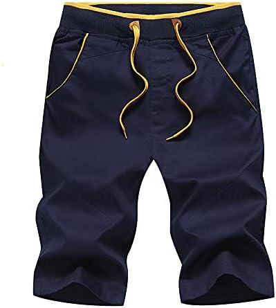 Niubiyansdk Men's Shorts Men's Shorts Shorts Men's Korean Casual Pants New Trend Loose Breeches (Color : Blue, Size : XX-Large)