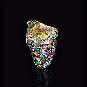 Arte de Murano Búho de cristal de Murano, glass, Multicolor, pequeña