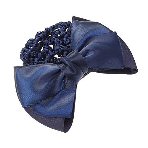 Frcolor Haarclip Haarspange Haarnetz für Brötchen Frauen Haar Knotenring Haarnetz mit Schleife (Blau)