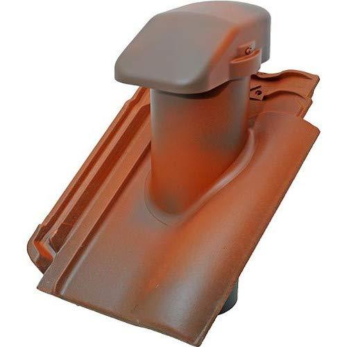 Rhedach Sanitärlüfterziegel DN 100 für Koramic Alegra 12 Bogen (edelrubinrot – edelengobiert)