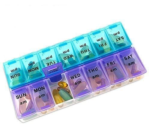 MEDca Weekly Pill Organizer, Twice-a-Day, 1 Pill Organizer Extra Large