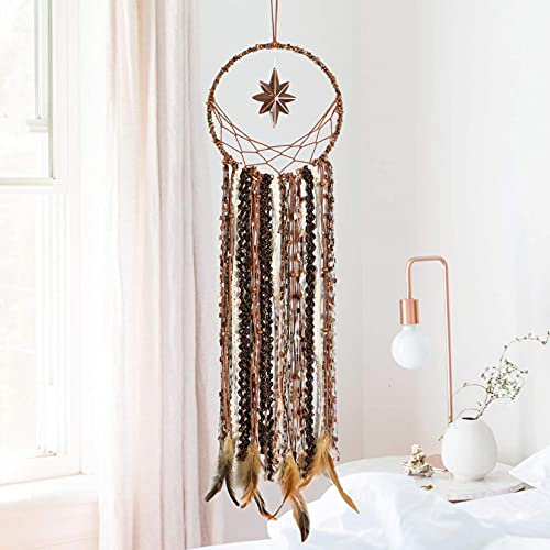 RONGJJ Traditional Boho Style Dreamcatcher Hangings Decoration Hand Knit Handmade Dream Catcher With Star For Bedroom Living Room Car Decor