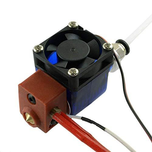 KTZAJO All Metal V6 Bowden Extrusora Hotend para impresora 3D – Filamento de 24 V/1,75 mm / boquilla de 0,4 mm