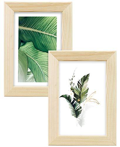 Postergaleria Cadre de l'image | 13x18 | Lot de 2 | Eko | Bois | Plexiglas | 8 couleurs | 10 tailles | Cadre d'affiche | Cadre photo