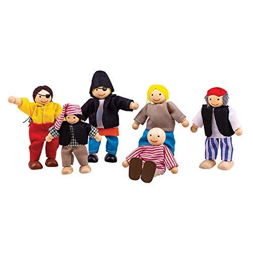Bigjigs Toys Boîte de Jeu Patrimoine Lot de Pirates