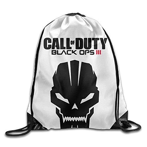 ZHIZIQIU Bro-Custom Skull Video Game Call Duty Unisex Backpack Shopping White.