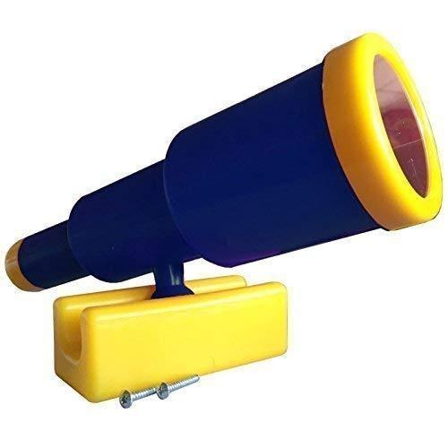 Loggyland Großes Teleskop Fernrohr für Spieltürme I Kletterturm I Spielplatz I (blau/gelb)