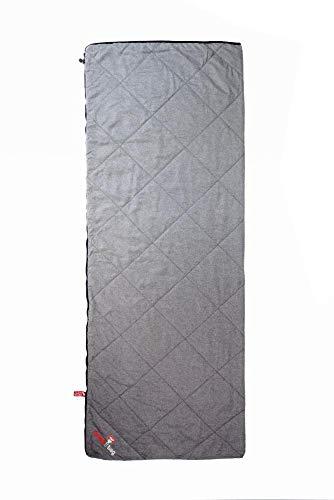 Grüezi-Bag WellhealthBlanket Wool Schlafsack & Wolldecke 2-in-1, kuschelig weich und warm, Körpergröße bis 200 cm, 200x150cm, Packmaß Ø 14 x 19 cm
