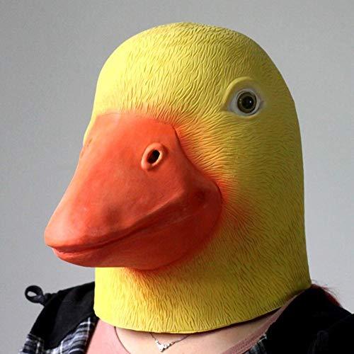 Gelbe Entenmasken, Entenkopfmaske, lustige Entenkopfmaske geeignet für Tanz, Karneval, Weihnachten, Ostern und Halloween