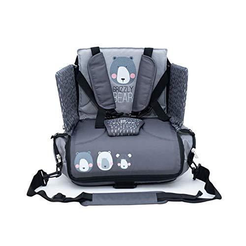 Danielstore-Silla bolso Bebe-Alzadores de asiento + Regalo de un Babero (Bear gris)