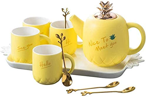 Porcelain Tea Set Afternoon Tea Sets with Afternoon Tea Set Ceramic Black Tea Flower Teapot Coffee Cup Water Set Household