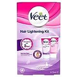 Veet Crema aclaradora para el cabello para la cara y el cuerpo, 2 x 75 ml