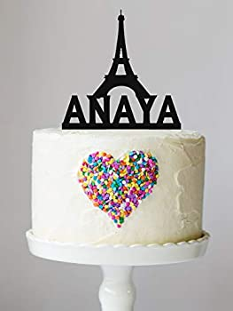 Paris Eiffel Tower Birthday Cake Topper with Keepsake Base Personalized Paris Topper Eiffel Topper Birthday Party Sweet Sixteen Paris Theme Party