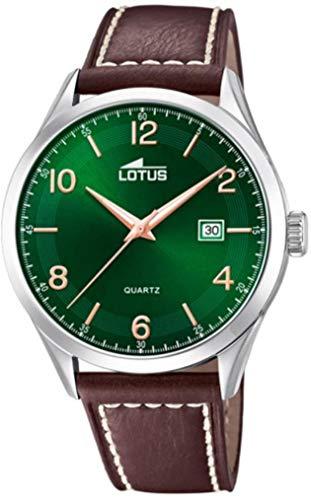 Lotus Herren Analog Quarz Uhr mit Leder Armband 18634/2