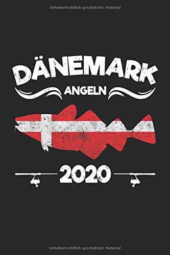 Dänemark Angeln 2020: Angler Tagebuch zum Dorsch und Meerforellen Angeln in Dänemark 2020 - 100 Seiten 6'' x 9'' (15,24cm x 22,86cm) DIN A5 Kariert