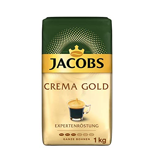 Jacobs Kaffeebohnen Expertenröstung Crema Gold, 1 kg Bohnenkaffee