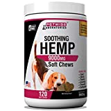 SOOTHING HEMP SENSATIONS - The active ingredients in our Soft Chews for dogs provide a soothing cbd and hemp sensation which can calm any breed of pup. WHEAT FREE- Petwise Hemp Calming Aid Soft Chews contain zero wheat and also have an added benefits...