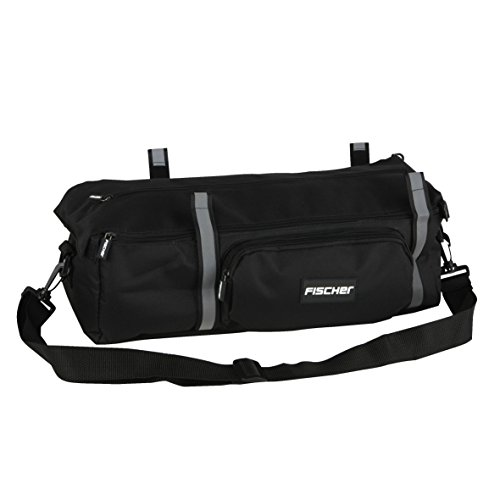 FISCHER Tasche Gepäckträger schwarz, 13 x 25 x 52 cm, 8.5 Liter