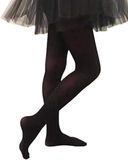 3 Pairs Girls Tights Kids Pantyhose Stockings Ballet Tights Dance Dancing M-2XL (Large, Black)