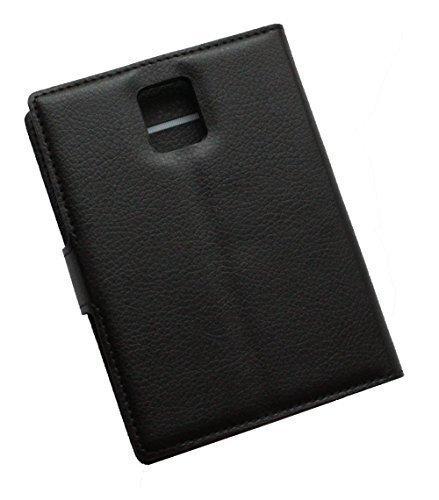 Schutztasche Hülle für Blackberry Passport Q30 Flip Hülle mit Kartenfächern & Standfunktion - Dealbude24 (Schwarz)