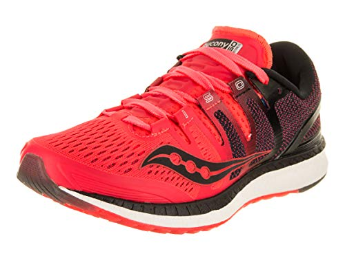 Saucony Women's Liberty ISO - Color: Red/Black (Regular Width) - Size: 10.5