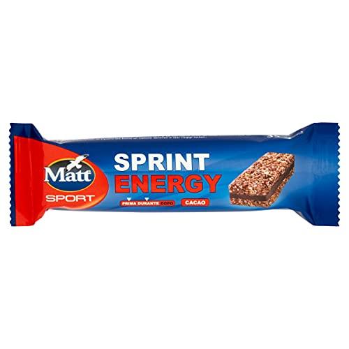 Matt Sport Energy Sprint Cacao - Barretta Energetica Tonificante con Cereali