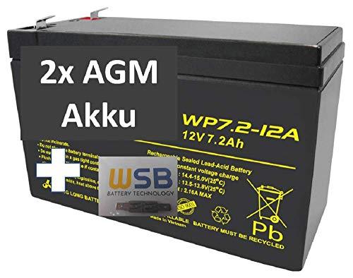 2X Ersatz Akku für 12V 7,2Ah kompatibel Treppenlift Sitzlift Flow 1 2 Minivator 950 2000 Acorn Superglide 120