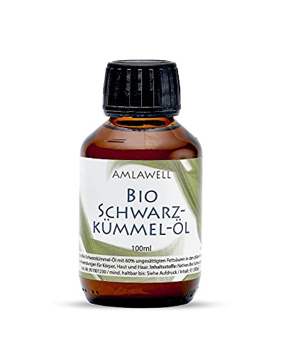 AMLAWELL Bio Schwarzkümmelöl - 100 ml...
