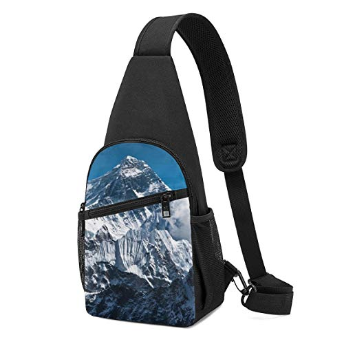 NEPower Sling Bag Beautiful Snow Mountains Outdoor Chest Sling Backpack Lightweight Shoulder Casual Daypack for Man/Women
