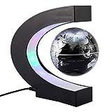 TOPINCN C Form Magnetschwebetechnik Floating Rotierende Globe LED Weltkarte Lernen Office Home Decoration -