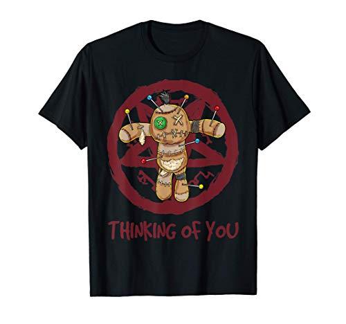 Pensando en ti Muñeca Vudú Muñeca satánica Pastel Goth Camiseta