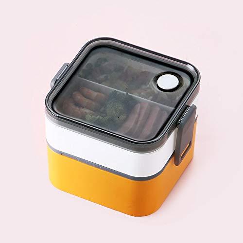 Bento Box Caja de almuerzo simple puede ser calentada por horno de microondas Tipo separado Caja portátil Caja de almuerzo Caja de vajilla Cocina Comida Caja de alimentos Contenedor de almacenamiento