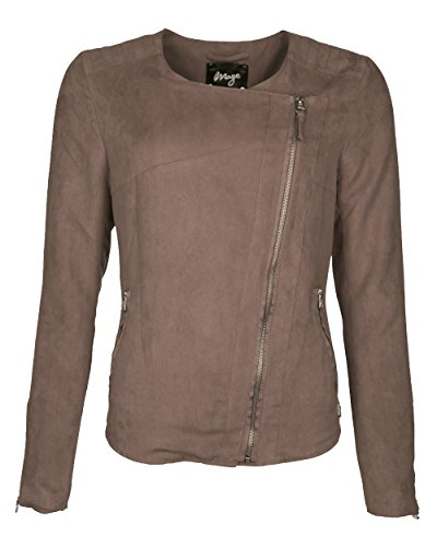 Maze overgangsjas | Blouson | Korte jas voor dames Mirali Elegante overgangsjas in velours lederlook
