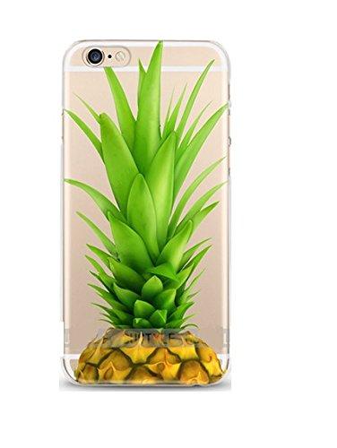 ITGM Custodia compatibile con iPhone 5, 5S, Big Ananas TPU Cover Cover Cover Bumper leggera con foto in silicone Custodia protettiva antigraffio (Big Ananas)
