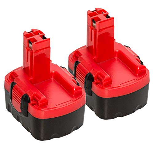 2pack 3.6Ah 14.4 Volt NI-MH Replace for Bosch Battery, BAT140 Battery for Bosch BAT038 BAT041 BAT159 2607335685 2607335264 2607335275 2607335276 2607335432 2607335465 2607335528 2607335533