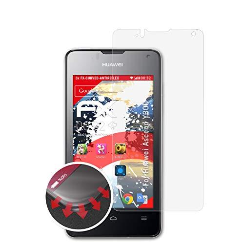 atFolix Schutzfolie kompatibel mit Huawei Ascend Y300 Folie, entspiegelnde & Flexible FX Bildschirmschutzfolie (3X)