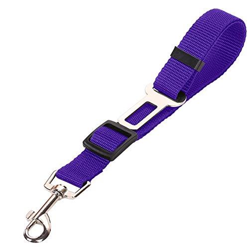 BBGSFDC Pet Car Seat Belt Veicolo Auto Pet Dog trazione Corda Seggiolino Auto Cablaggio della Cinghia Clip Lead Supplies Dog Pet (Color : Purple,...