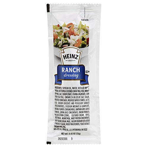 Heinz Ranch Single Serve Packet (0.4 oz Packets, Pack of 200)